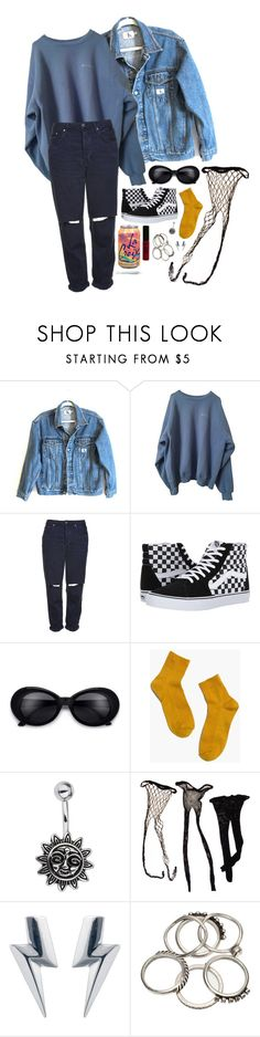 """Untitled #321"" by avilaclare ❤ liked on Polyvore featuring Calvin Klein Jeans, Topshop, Vans, Madewell, Miss Selfridge, Edge Only and NYX"