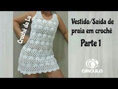 Vestido mujer tejido a crochet, paso a paso (2 de 3) - YouTube