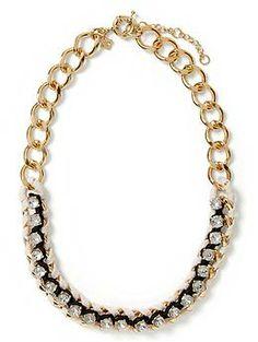 Woven Crystal Necklace   Banana Republic