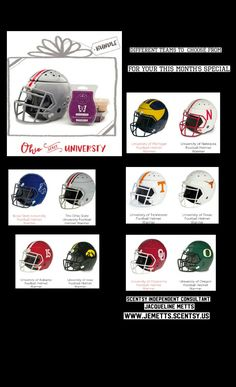 🏈CAMPUS GIFT BUNDLES🏈  Buy any Campus Collection Helmet Warmer ($55 each) and get three bestselling Scentsy Bars FREE: Black Raspberry Vanilla, Welcome Home and Vanilla Bean Buttercream. $15 savings!  Available now through Nov. 30, 2016, or while supplies last.   Several teams to choose from!  Order now - https://jemetts.scentsy.us/shop/c/3638/campus-gift-bundles
