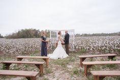 intimate ceremony ideas - photo by Julie Paisley - http://ruffledblog.com/cotton-field-winter-wedding-ideas