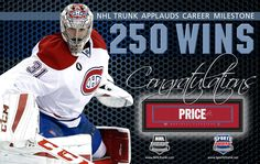 Carey Price, Montreal Canadiens • December 17, 2016 • NHLTrunk.com