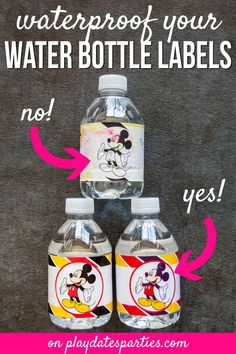 Diy water bottle - The Best Choice for Making Waterproof Water Bottle Labels – Diy water bottle Personalized Water Bottle Labels, Printable Water Bottle Labels, Printable Labels, Party Printables, How To Make Water, Waterproof Labels, How To Make Labels, Vinyl Sticker Paper, Water Party