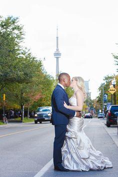 Stopping traffic  City wedding, Toronto www.capturedmomentsmedia.ca