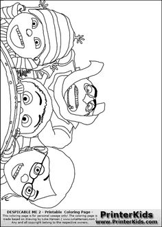 margo edith and agnes coloring pages | In this amazing Despicable Me 2 coloring page, you can ...