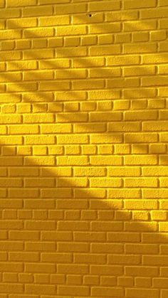 Yellow brick wall with beautiful lighting