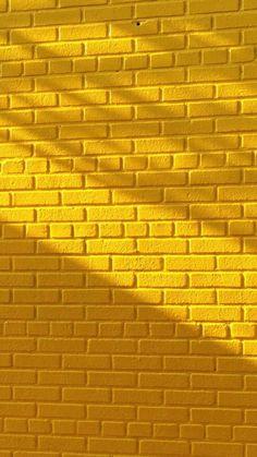 Yellow brick wall with beautiful lighting