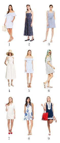 Summer Sundresses including the Katie Kime Ginger Jars shift