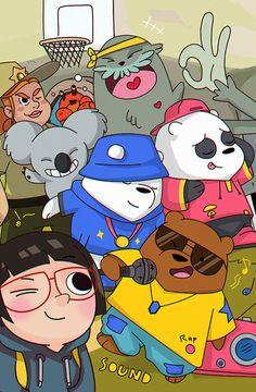 Pink Wallpaper Anime, Cute Panda Wallpaper, Bear Wallpaper, Wallpaper Iphone Cute, Disney Wallpaper, We Bare Bears Wallpapers, Panda Wallpapers, Cute Cartoon Wallpapers, Bear Character
