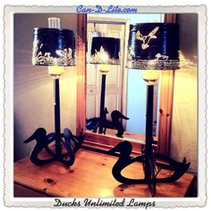 2014 Ducks Unlimited Table Lamps By Paul U0026 Cheri Anderson Of Can D Lite