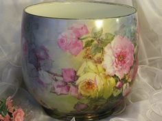 """""""BREATHTAKING ROSES"""" Massive FRENCH JARDINIERE PLANTER POT Gorgeous from…"""