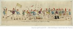 A Party of the sans culote army marching to the frontiers : [estampe] / R.d Newton -- 1792 -- images French Revolution, Bnf, Vintage World Maps, Army, Image, Printmaking, Gi Joe, Military