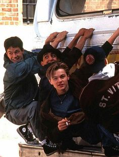 Mark Wahlberg, James Madio, Leonardo DiCaprio, and Patrick McGaw hanging from bus in scene from the film 'The Basketball Diaries', Mark Wahlberg Calvin Klein, Mark Wahlberg Daddy's Home, Mark Wahlberg Young, Actor Mark Wahlberg, Leonard Dicaprio, Young Leonardo Dicaprio, Boogie Nights, Mark Wahlberg Daughter, Look 80s