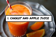 1. #Carrot and Apple Juice