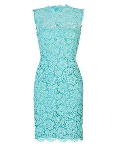 VALENTINO Lace Overlay Sheath Dress