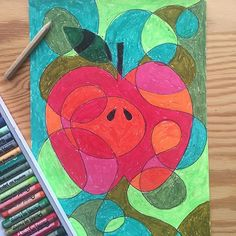 Taking a line for a walk around an apple :-) art projects for kids рисунок, School Art Projects, Projects For Kids, Art School, Anatomy Head, Apple Coloring Pages, Apple Art, Art Classroom, Apple Classroom, Art Lessons Elementary