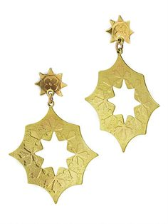 Wreath Earrings | etched brass | Drew Curtright | drewcurtrightdesigns.com