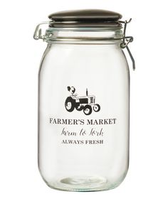 Look what I found on #zulily! 50-Oz. 'Farm to Fork' Glass Canister #zulilyfinds