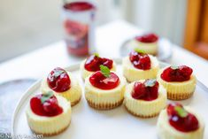 Mini Cherry Almond Cheesecakes - My Baking Addiction 2 packages ounces) cream cheese, room temperature cup sugar 2 eggs 1 teaspoon Nielsen-Massey Organic Pure Almond Extract FOR THE TOPPING: 1 cup ounces) cherry pie filling Cheesecake Bites, Cheesecake Recipes, Dessert Recipes, Delicious Desserts, Mini Cheesecakes, Mini Desserts, Spanish Desserts, Wedding Cakes With Cupcakes, Chocolate Desserts
