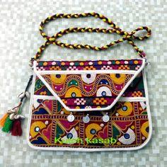 Kutchi I-pad cover Diy Handbag, Diy Purse, Hand Embroidery, Embroidery Designs, Anarkali Frock, Kutch Work Designs, Work Purse, Ethnic Bag, Kurti Neck