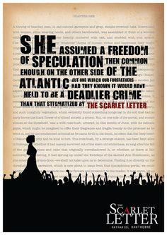Scarlet Letter Quote Digital Poster