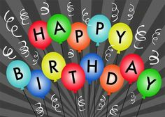 Balloons Celebration - Birthday Cards from CardsDirect Happy Birthday Ballons, Happy Birthday Wallpaper, Happy Birthday Pictures, Happy Birthday Messages, Happy Birthday To Us, Happy Birthday Greetings, Happy Birthday Banners, Birthday Greeting Cards, Birthday Fun