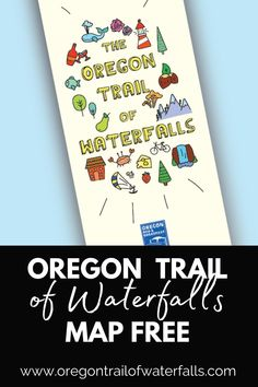 Come get your Oregon Trail of Waterfalls map FREE and learn more about the different magnificent waterfalls in Oregon! Plus, things to do, where to stay, what to eat, and MORE! Oregon Map, Oregon Road Trip, Oregon City, Oregon Travel, Oregon Coast, Oregon Trail Game Online, Oregon Wine Country, Oregon Waterfalls, Free Maps