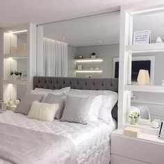 Discover the Ultimate Master Bedroom Styles and Inspirations - Modern Master Bedroom, White Bedroom, Bedroom Sets, Home Decor Bedroom, Master Bedrooms, Small Double Bedroom, Bedroom Mirrors, Bedroom Rustic, Minimalist Bedroom