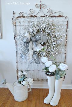 Junk Chic Cottage: Winter Garden Decor