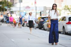 The Most Authentically Inspiring Street Style From New York #refinery29  http://www.refinery29.com/2015/09/93788/ny-fashion-week-spring-2016-street-style-pictures#slide-82  The bigger the pants, the better....