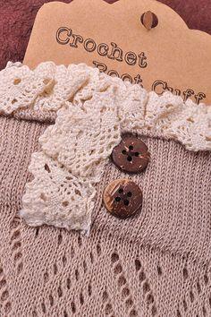 Crochet Leg Wamer- BEIGE