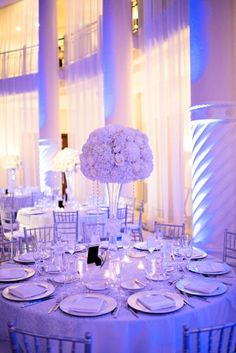Chic Classic Silver and White Wedding
