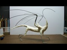Full Dragon Sculpture, Part 2. Wings, foil, and tape!