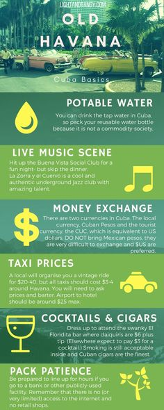 My heart is in Havana! Hot tips- prices for taxis, drinks, money exchange and loads more.