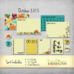 October 2015 Kit - Project Life Pocket Pages :http://michellejdesigns.com/october-2015-kit-project-life-pocket-pages/