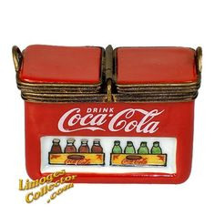COCA COLA COOLER WITH COKE BOTTLE LIMOGES BOX (ULTRA RARE)