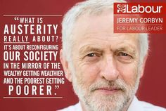 """""""What is Austerity all about?"""" - Jeremy Corbyn Its all a myth!! #Corbyn4leader #Jeremy4Leader #EndAusterityNow"""