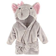 Hudson Baby Animal Plush Bathrobe, Pretty Elephant, 0-9 Months | eBay