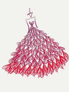 red gown design :)