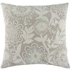 Callisto Home, Inc. Blue Pillows, Throw Pillows, Pillow Embroidery, Cushion Cover Designs, Natural Cushions, Interior Paint Colors, Embroidery Designs, Print Design, Pillow Covers