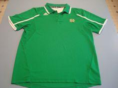 Adidas Notre Dame Irish Sideline Coaches Performance Golf Polo Shirt L Green #adidas #NotreDameFightingIrish Irish Fans, Golf, Notre Dame Football, Soccer Boys, Adidas, Mens Tops, Shirts, Shopping, Fashion