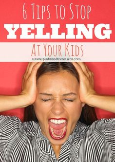how to stop yelling at kids