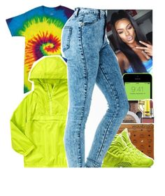 """where you at? on the way."" by yeauxbriana ❤ liked on Polyvore featuring NARS Cosmetics, MCM and NIKE"