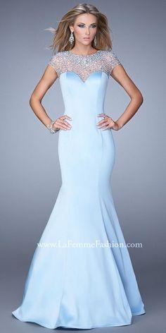 Multicolor Beading Trumpet Prom Gown by La Femme #dresses #fashion #beautiful #elegance #designer #edressme #designerdresses #LaFemme