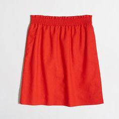 """<ul><li>Linen/cotton.</li><li>Sits above waist.</li><li>18 1/2"""" long.</li><li>Elastic waistband.</li><li>On-seam pockets.</li><li>Lined.</li><li>Machine wash.</li><li>Import.</li></ul>"""