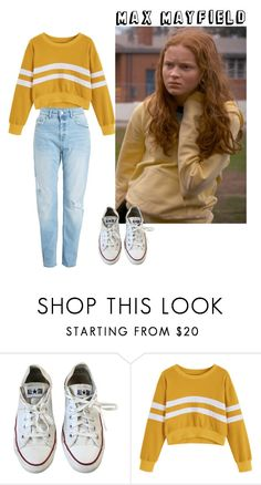 """Max Mayfield"" by nancy-wheeler-24 ❤ liked on Polyvore featuring Converse, Season2, 1984, StrangerThings, sadiesink and MaxMayfield"