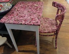 From Little Willows, UK. This table and chair look great!