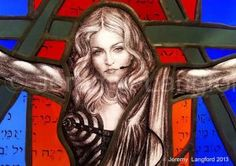 Madonna Stained Glass Detail- Jeremy Langford