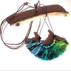 Blue and green peacock feathers  Monaco Blue Ombre by NinaPaco