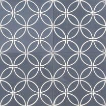 Blue Tango - 20 x 20 cm in size from Jatana Concrete Bathroom, Concrete Tiles, Narrow Bathroom, Cement, Blue Tango, Back Garden Design, Tiled Hallway, Feature Tiles, Encaustic Tile